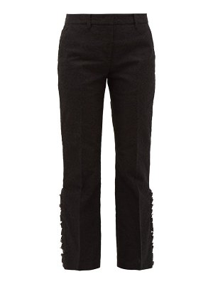 No. 21 flounced-cuff lace trousers