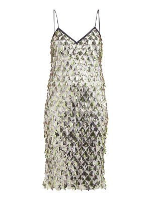 No. 21 jersey-lined sequin dress