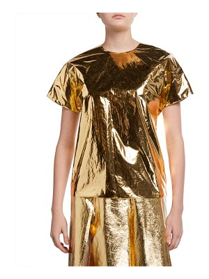 No. 21 Metallic Short-Sleeve Top