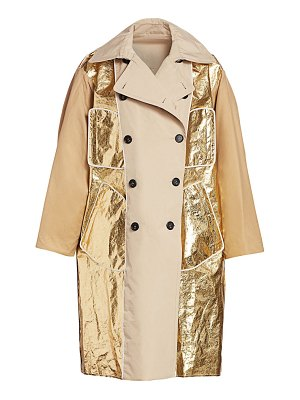No. 21 metallic-trim trench coat