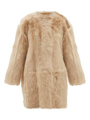 No. 21 oversized shearling coat