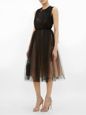 No. 21 ruched tulle dress