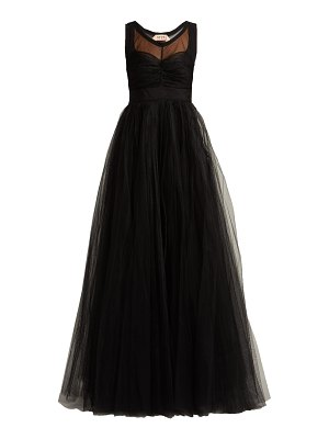 No. 21 tulle and crepe de chine gown