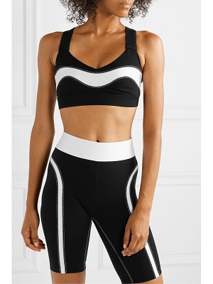 NO KA'OI fearless ola striped stretch sports bra