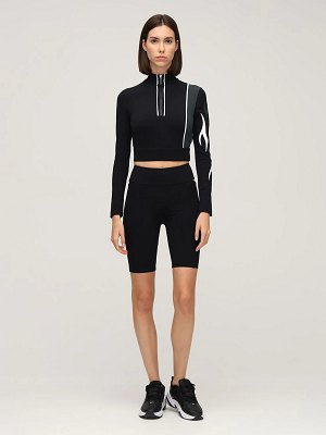 NO KA'OI Outline cutout bike shorts