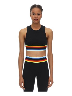 NO KA'OI Rainbow lani stretch techno bra top