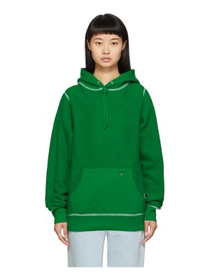 Noah Nyc green reverse fleece hoodie