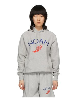 Noah Nyc grey wing foot embroidered hoodie