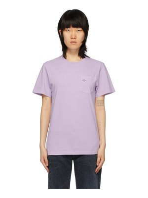 Noah Nyc purple pocket t-shirt