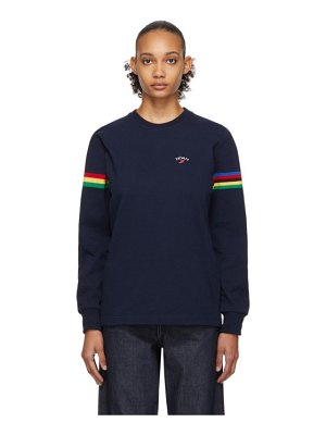 Noah Nyc stripe winged foot rugby long sleeve t-shirt