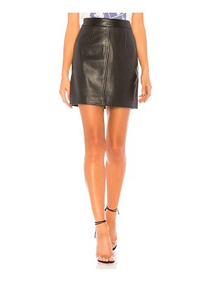 Nobody Denim Cleanline Leather Skirt