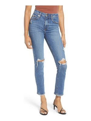 Nobody Denim true high waist ripped slim ankle jeans