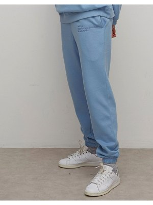 Nobody's Child sustainable relaxed sweatpants with branding co-ord-blue