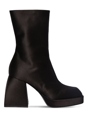 NODALETO 85mm corta satin ankle boots