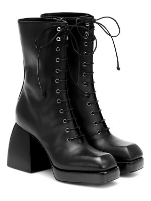 NODALETO bulla lace-up leather ankle boots