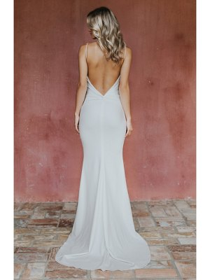 Noel and Jean by Katie May breathless twist bodice trumpet gown