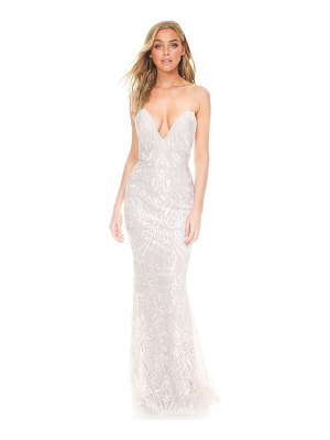 Noel and Jean by Katie May my lady embroidered illusion strapless wedding dress