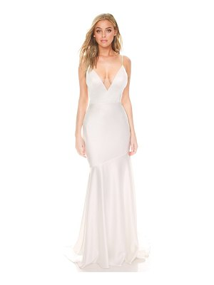 Noel and Jean by Katie May reflection bias cut satin wedding dress