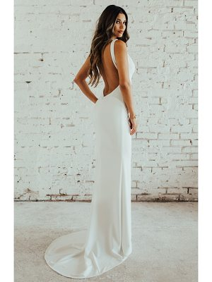 Noel and Jean by Katie May paloma plunge back trumpet gown