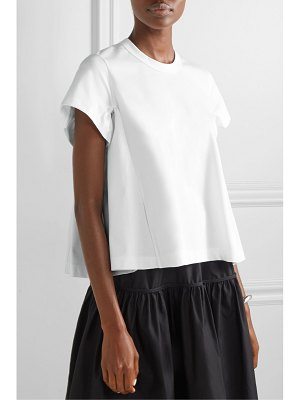 noir kei ninomiya ruched cotton t-shirt