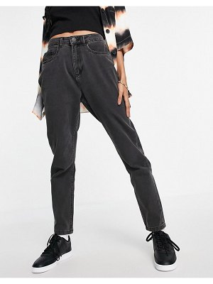 Noisy May baggy mom jeans in washed black