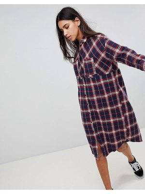 Noisy May check shirt dress