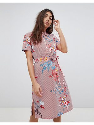 Noisy May Floral Printed Shirt Dress