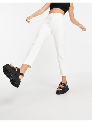 Noisy May mom jeans in white