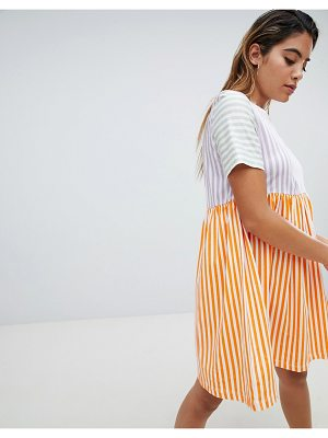 Noisy May Pop Stripe Smock Dress