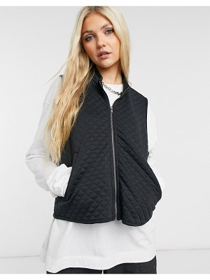 Noisy May quilted vest in black