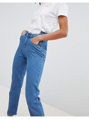 Noisy May step waist pocket detail mom jean
