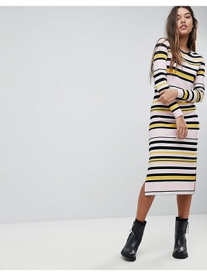 Noisy May Striped Midi Dress