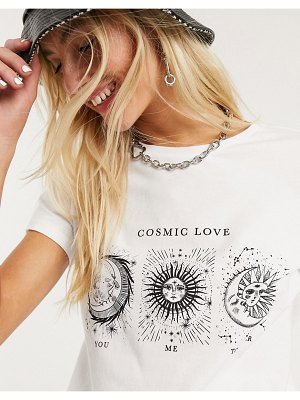 Noisy May t-shirt with zodiac motif in white