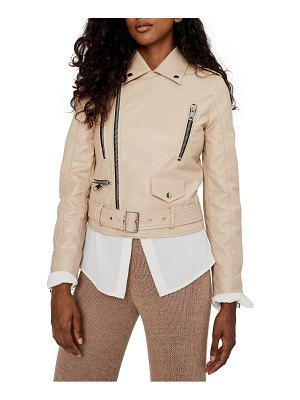 NOIZE libby water resistant faux leather moto jacket