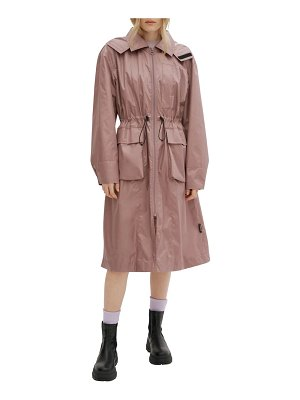 NOIZE packable water resistant hooded raincoat