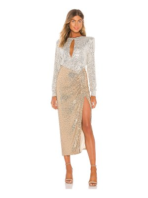NONchalant lena sequin maxi dress