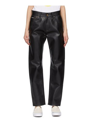 Noon Goons faux-leather series trousers