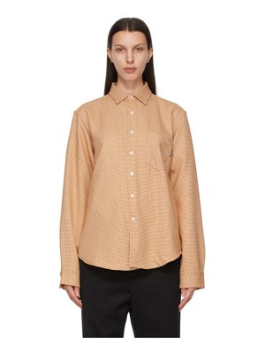 Noon Goons orange houndstooth sect shirt