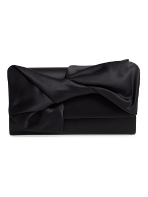 Nordstrom bow flap satin clutch