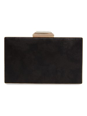 Nordstrom geometric faux leather minaudiere