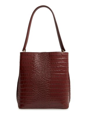 Nordstrom laura croc embossed leather tote