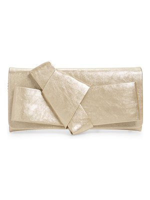 Nordstrom new bow soft faux leather clutch