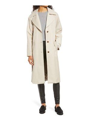 Nordstrom plaid detail trench coat