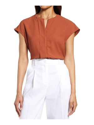 Nordstrom pleat front woven top