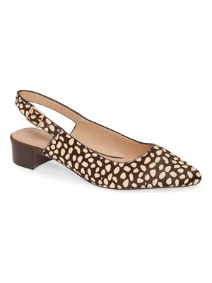 Nordstrom Signature elisa genuine calf hair slingback pump
