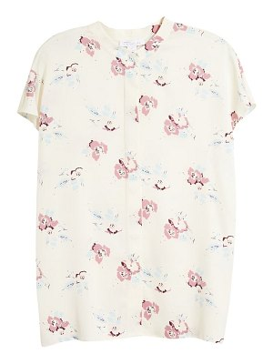 Nordstrom Signature floral stretch silk top