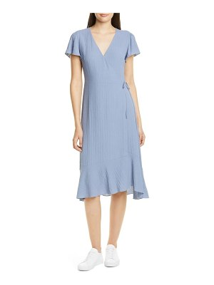 Nordstrom Signature flutter sleeve wrap dress