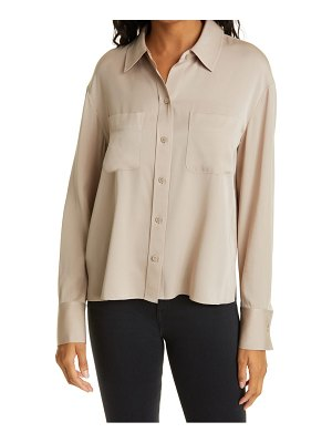 Nordstrom Signature silk button-up blouse