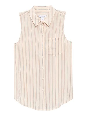 Nordstrom Signature sleeveless button-up shirt