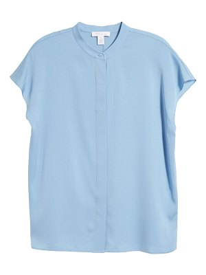 Nordstrom Signature stretch silk button-up top